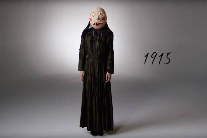В начале двадцатого века костюмы для Хэллоуина делали из папье-маше.