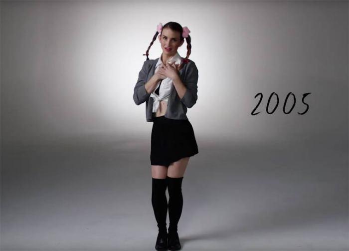 В начале двадцать первого века наряды часто пародировали популярную в то время певицу Бритни Спирс.