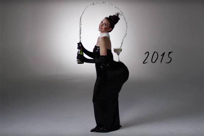 В наше время самым ярким костюмом для вечеринки станет образ скандально известной Ким Кардашьян.