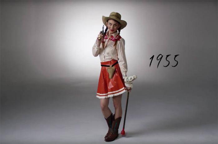 В середине двадцатого века модными были костюмы в ковбойском стиле.