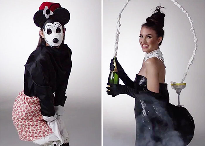 Эволюция костюмов для Хэллоуина за последние 100 лет.