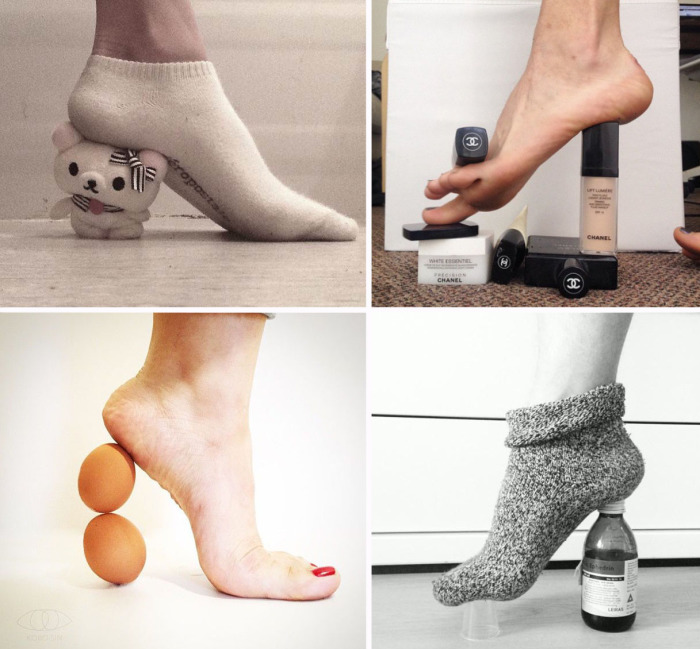 Самодельные каблуки из подручных материалов.