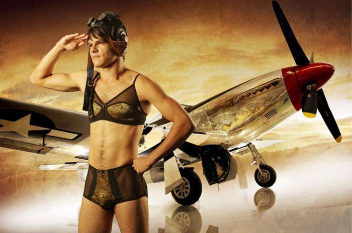 Австралийская компания Homme Mystere утверждает, что создаёт нижнее бельё прежде всего для мужчин традиционной ориентации.