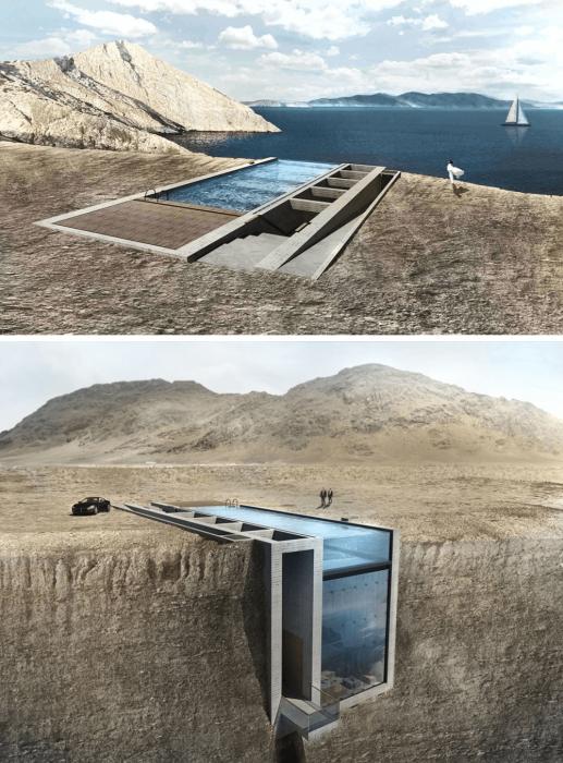 Кажется, что этот дом находится на краю земли.