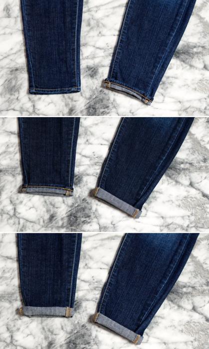 Алгоритм создания узкой манжеты на джинсах-скинни.