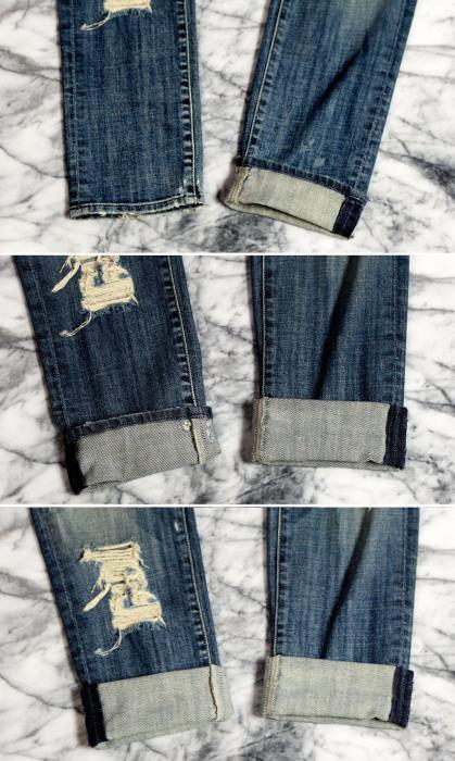 Алгоритм создания широкой манжеты на прямых свободных джинсах.