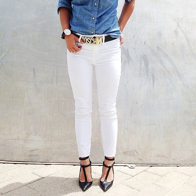 Подвернутые стрейчевые джинсы с внутренней манжетой.