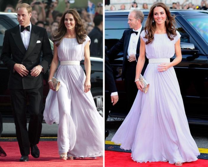 Кейт Миддлтон в платье от британского дизайнерского дома «Alexander McQueen» на церемонии вручении премии BAFTA (Британская академия кино и телевизионных искусств).