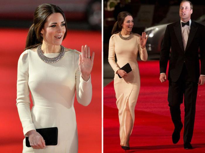 Кейт Миддлтон в платье от Roland Mouret на одной из кинопремьер.
