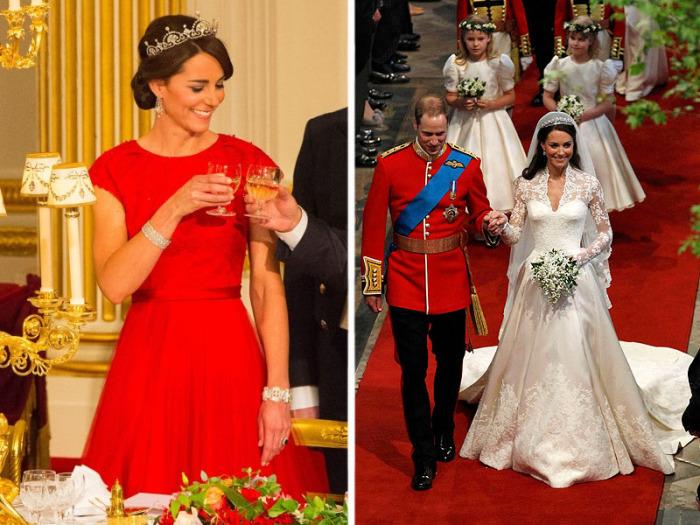 Королевские наряды Кейт Миддлтон.