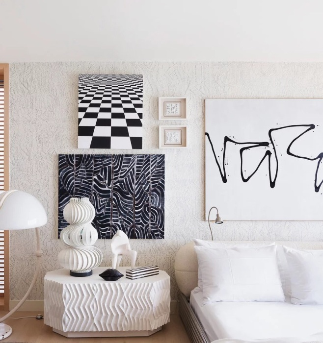 Стильная спальня Келли Уэстлер (Kelly Wearstler) - дизайнера, чьё имя вот уже много лет гремит на весь мир.