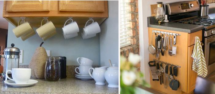 В кухонном гарнитуре приносить пользу могут даже внешние панели, а не только полки и ящики.