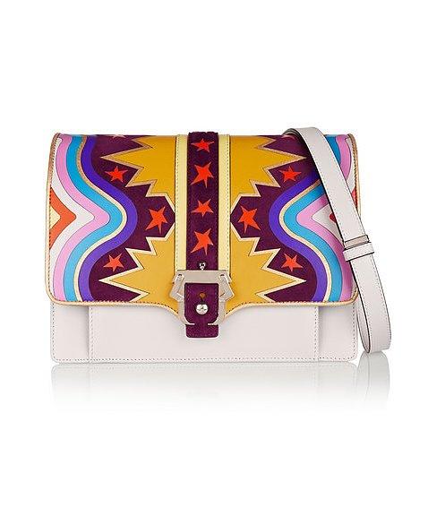 Разноцветная сумка для Львов от от итальянского дизайнера Паулы Кадемартори (Paula Cademartori), стоимость - 2 тысячи 195 долларов.