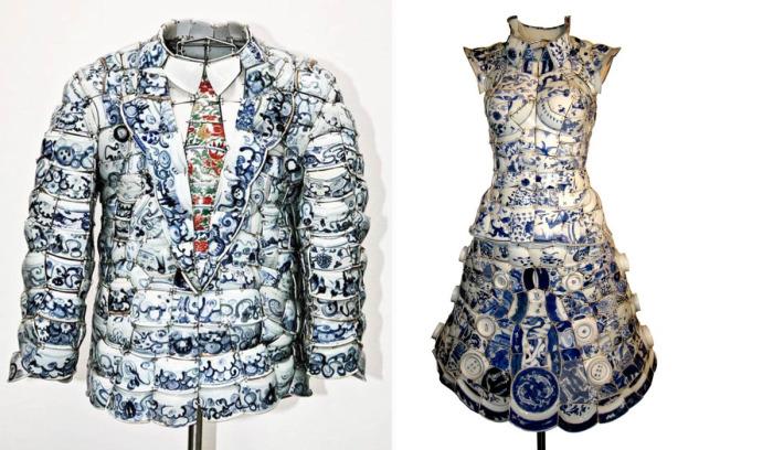 Дизайнер из Пекина Ли Сяофенг (Li Xiaofeng) занимается изготовлением оригинальной одежды из осколков китайского императорского фарфора.