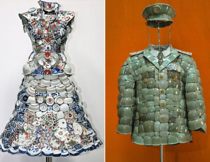 Талантливый пекинский дизайнер создает оригинальные вещи из осколков китайского императорского фарфора.