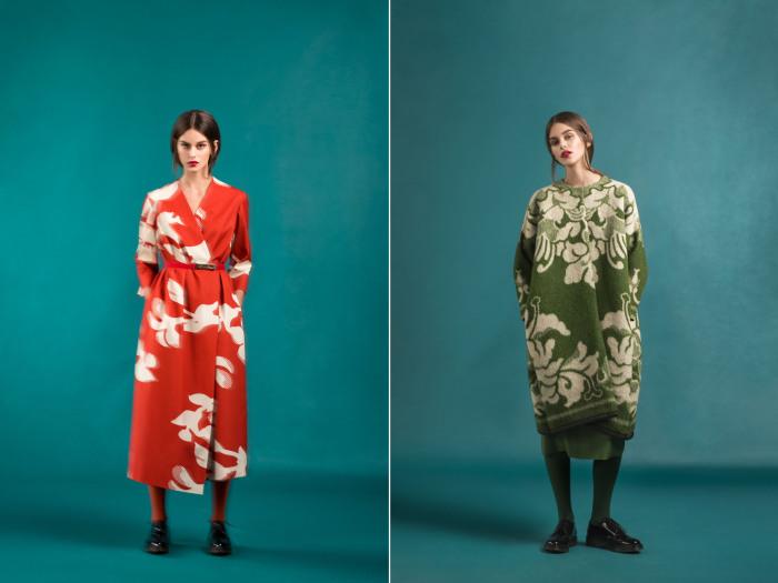 Коллекция необычной верхней одежды, сшитой из знакомых всем, кто рос в Советском Союзе, шерстяных одеял.