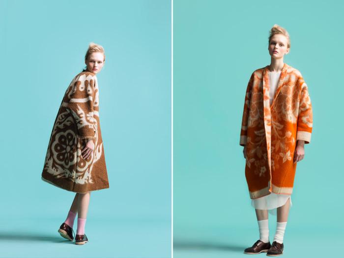 Теплые пальто из старых советских одеял помогут создать незаурядный и запоминающийся образ.