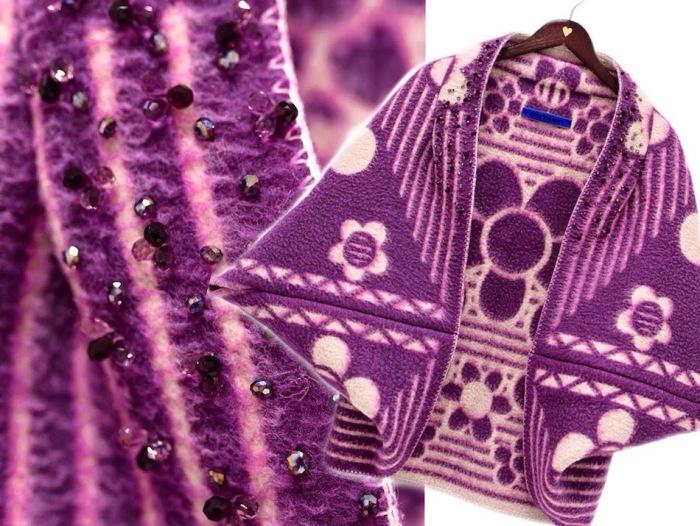 Некоторые пальто декорированы настоящими кристаллами Swarovski (Сваровски), поэтому цена за такую вещь может достигать двух тысяч евро.