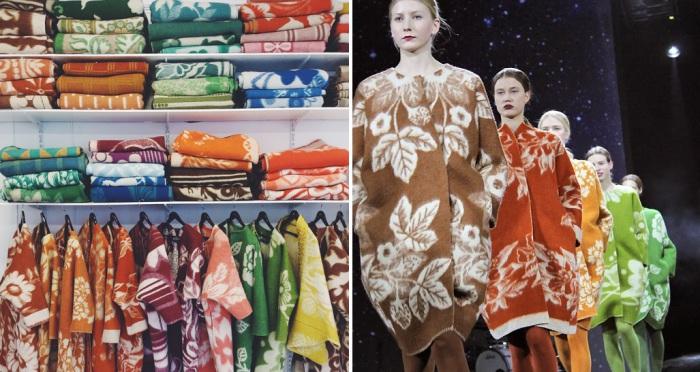 Модный дизайнер из Эстонии создает оригинальную верхнюю одежду из советских шерстяных одеял.
