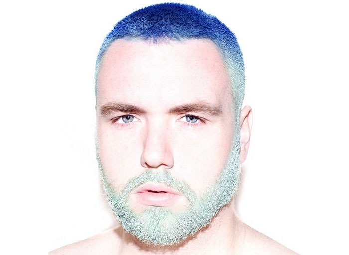 Фиолетовый цвет волос мужчина