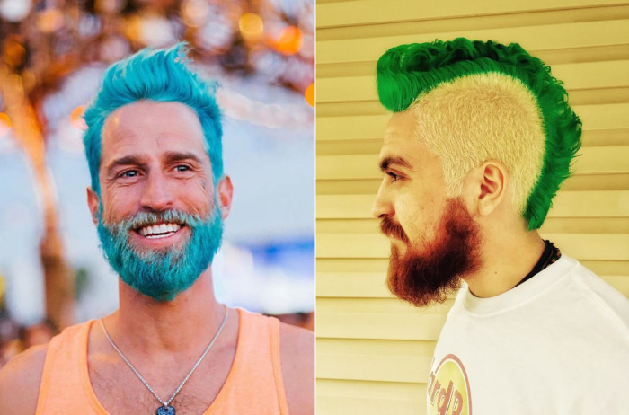 Разноцветные волосы - новый летний тренд среди представителей сильного пола.