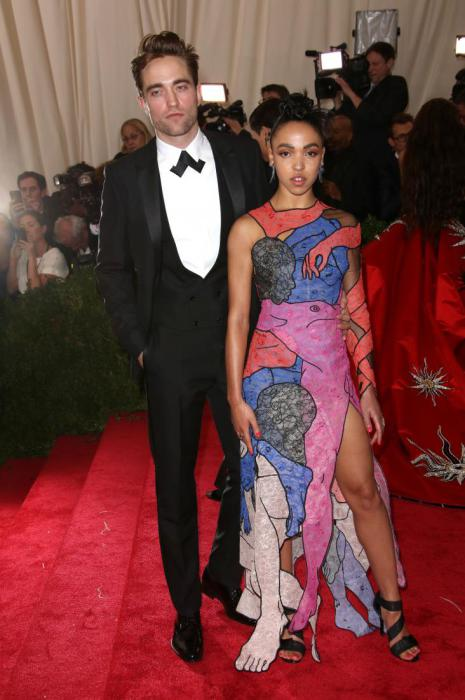 Robert Pattinson and Tahliah Barnett in Christopher Kane.
