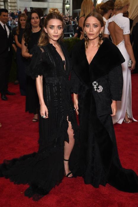 Mary-Kate Olsen and Ashley Olsen in Galliano.