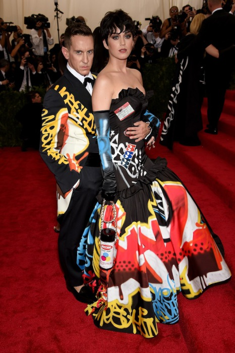 Jeremy Scott and Katy Perry in Moschino.