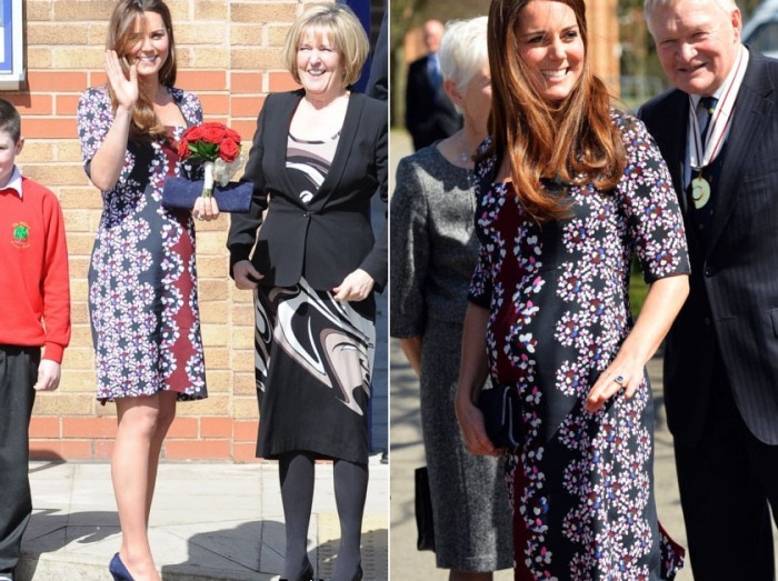 Кейт Миддлтон в шелковом платье с ярким цветочным узором Erdem.