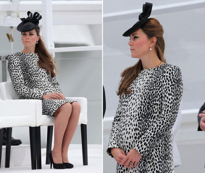 Кейт Миддлтон в платье с леопардовым принтом Hobbs.