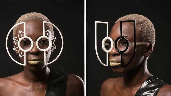Потрясающая футуристичная коллекция очков со сменной 3D-печатной оправой/
