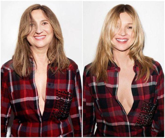 Пародия на рекламу с Кейт Мосс для модного бренда Eleven Paris.