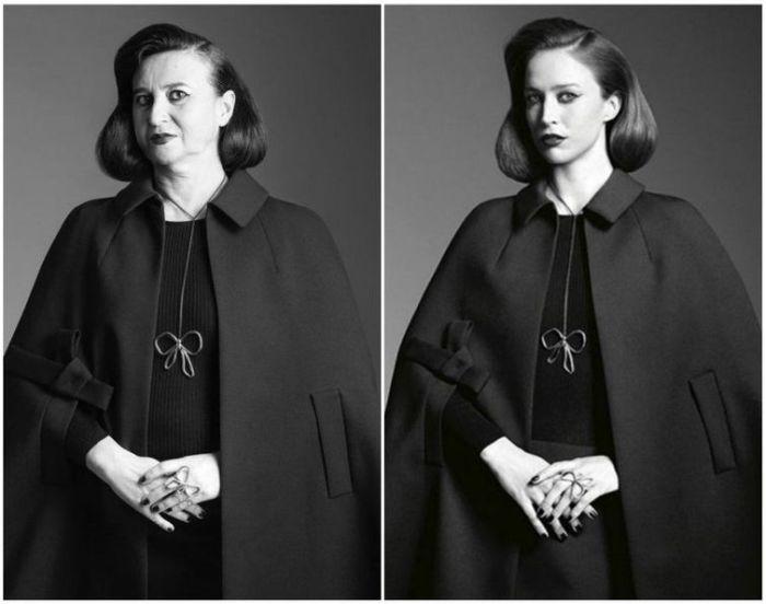 Натали Крокет пародирует рекламные фотографии мировых брендов.
