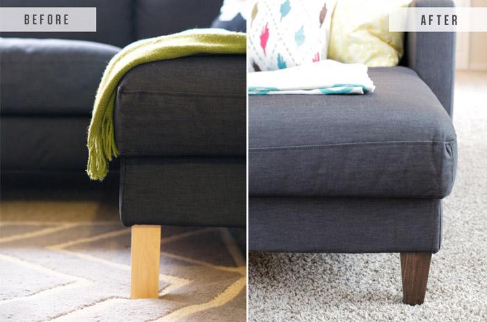 Замена ножек подарит новую жизнь дивану, кровати и другой мебели.