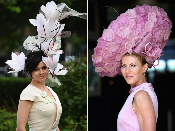 Экстравагантные дизайнерские шляпки с открытия ежегодных королевских скачек Royal Ascot.