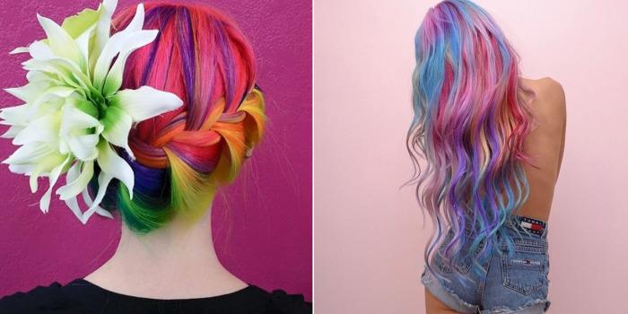 Потрясающие радужные локоны «Sand Art Hair» - новый летний тренд в окрашивании волос.