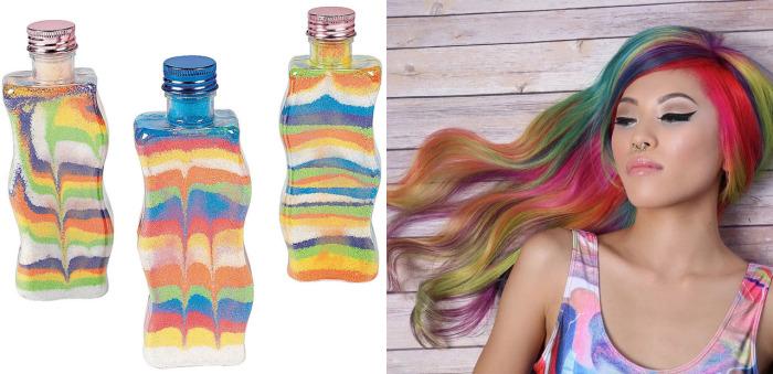 «Sand Art Hair» - новый летний тренд в окрашивании волос, который берет свое начало из бутылочек с разноцветным песком.