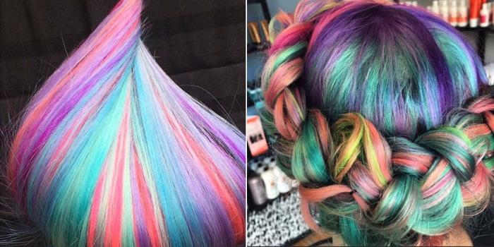 Покраска волос разными цветами