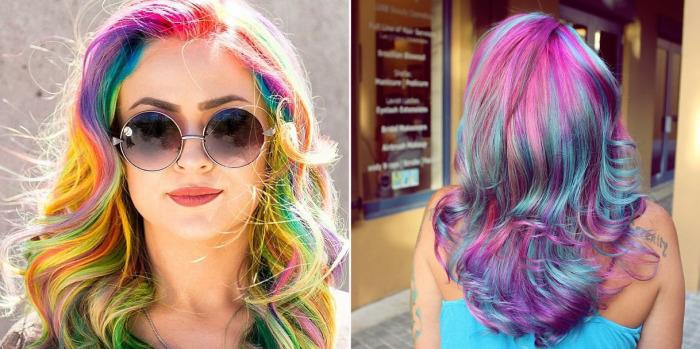 «Sand Art Hair» - новый необычный способ окрашивания, после которого волосы выглядят как бутылочки с разноцветным песком.