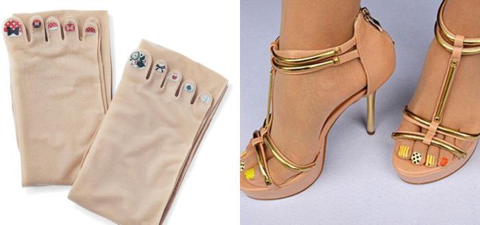 Жительницы Японии с удовольствием покупают и носят капроновые чулочные изделия с «накрашенными» ногтями.