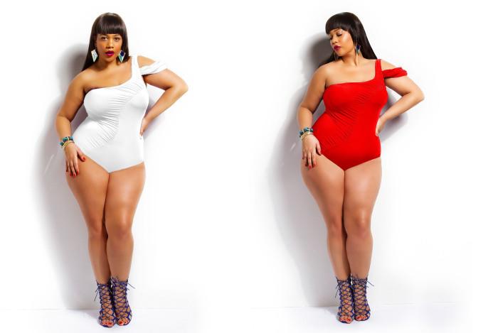 Слитный купальный костюм от бренда Monif C. - Tahiti One Shoulder Plus Size Swimsuit, стоимость которого - 46 долларов.