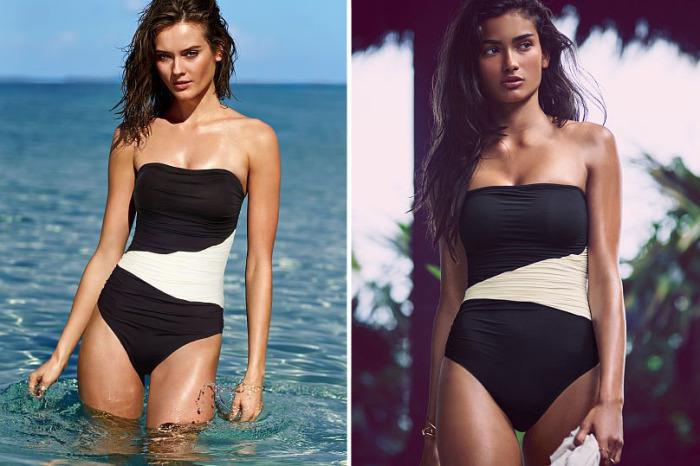 Слитный купальный костюм от бренда Victoria's Secret - Bandeau One-Piece, стоимость которого - 80 долларов.