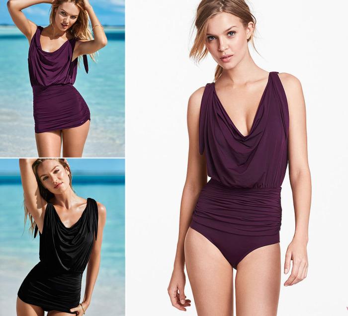 Слитный купальный костюм от бренда Victoria's Secret - Draped One-piece, стоимость которого - 128 долларов.
