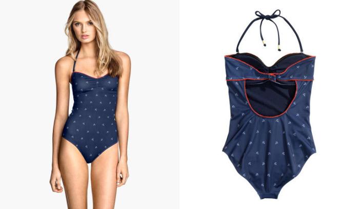 Слитный купальный костюм от бренда H&M - Halterneck Swimsuit, стоимость которого - 29 долларов.