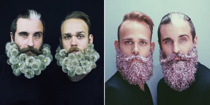 Ребята из Портленда (штат Орегон, США) украшают свои бороды с помощью подручных средств и превращают их в настоящие произведения искусства.