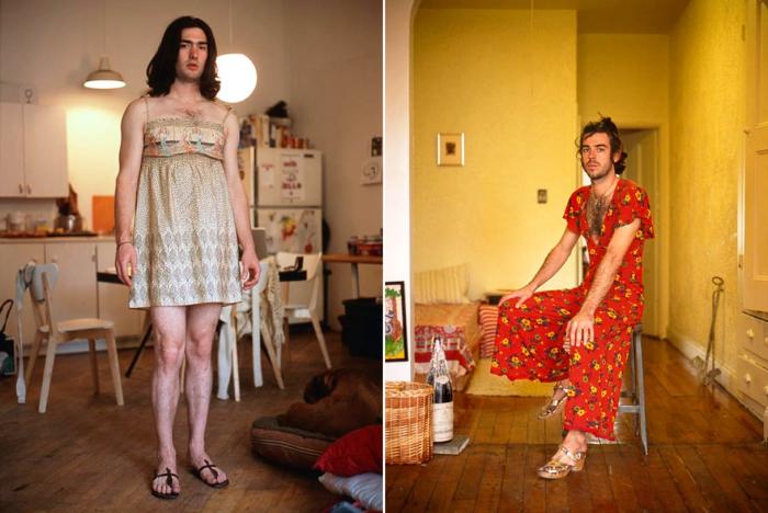 Фотопроект «Мужчины под влиянием» («The men under the influence») от испанского художника Джона Уриарте (Jon Uriarte), в котором мужчины надели одежду своих женщин.