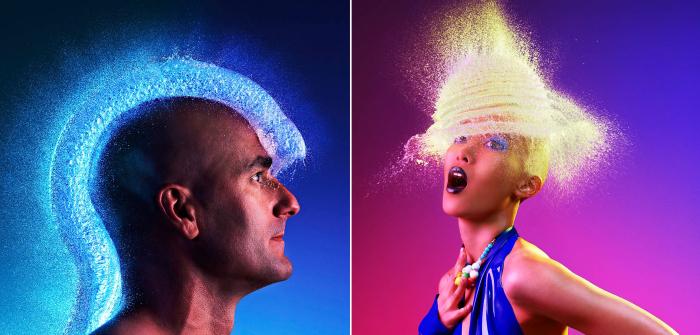 Лысые мужчины и женщины в уникальном проекте «Water Wigs» («Парики из воды») известного американского фотографа Тима Тэддера (Tim Tadder).