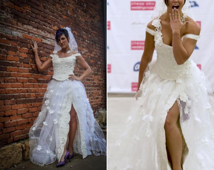 Американские дизайнеры решили создать прекрасные свадебные платья из обычной туалетной бумаги.