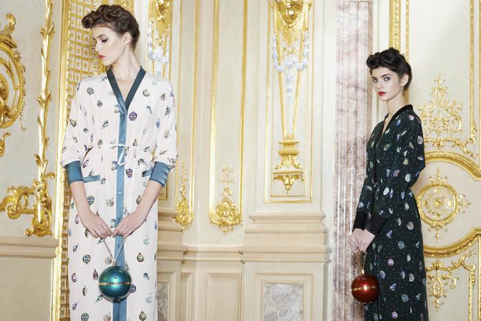 Потрясающая коллекция новогодних платьев, пижам и халатов от известного российского дизайнера Ульяны Сергеенко (Ulyana Sergeenko).