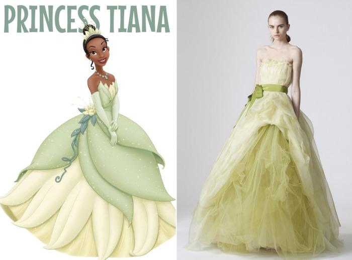 Потрясающее свадебное платье от Веры Вонг (Vera Wang) для фанаток Тианы из мультфильма Принцесса и лягушка (The Princess and the Frog).